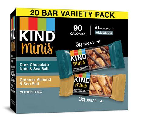 Dark Chocolate Nuts & Sea Salt + Caramel Almond & Sea Salt Minis