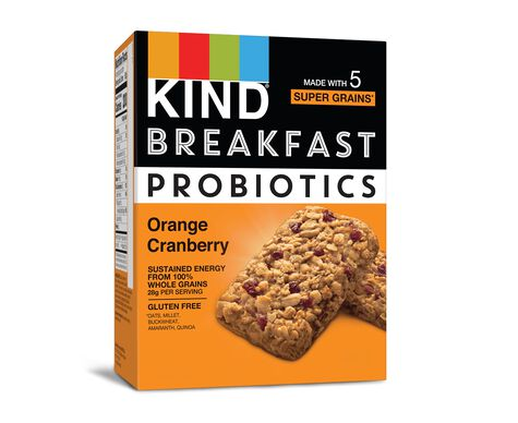 Orange Cranberry Probiotic Breakfast Bars