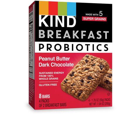 Peanut Butter Dark Chocolate Probiotic Breakfast Bars