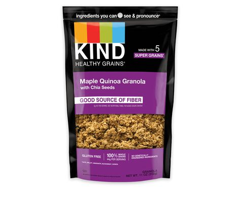 Maple Quinoa Granola with Chia Seeds