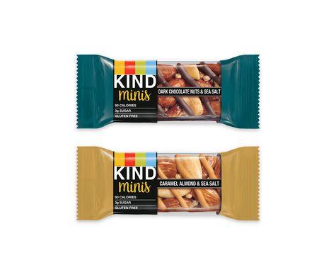 dark chocolate nuts & sea salt + caramel almond & sea salt