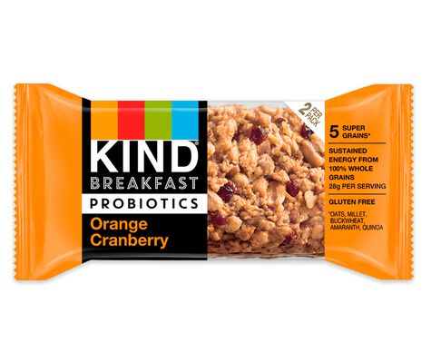 Orange Cranberry Probiotic Breakfast Bars