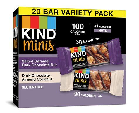 Salted Caramel Dark Chocolate Nut + Dark Chocolate Almond Coconut Minis