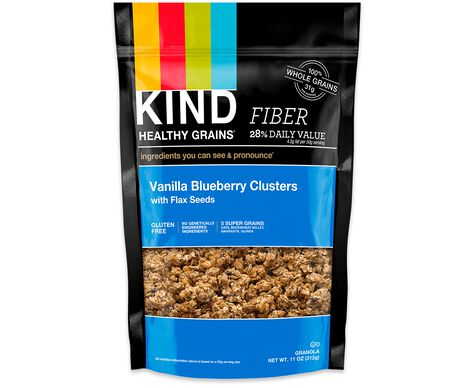 vanilla blueberry clusters with flax seeds