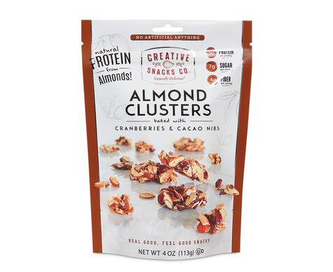 Almond Clusters Baked with Cranberries & Cacao Nibs