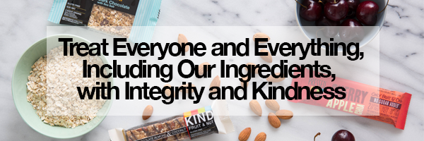 Treat everyone and everything, including our ingredients, with iontegrity and kindness